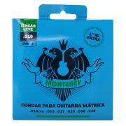 Jogo de Cordas p/ Guitarra 010 Leve - Monterey (1 Corda Extra)