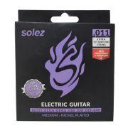 Jogo de Cordas p/ Guitarra 011 Tensão Média - Solez (2 Cordas Extras)
