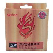 Jogo de Cordas p/ Violão 12 Cordas 010  - Solez