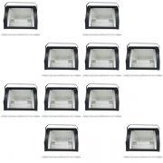 Kit 10 Refletor Set Light + Lâmpada Palito Halógena 1000w 220v 189mm