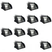Kit 10 Refletores Mini Set Light + Lâmpada Palito Halógena 500w 220v 118mm