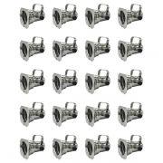 Kit 20 Unidades - Canhão Spot Par 20 Prata (Polido) - Volt