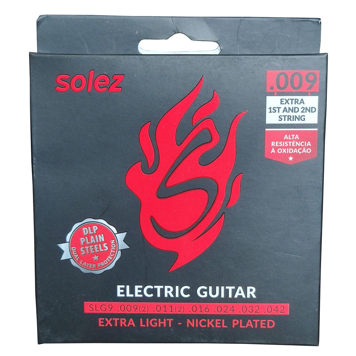 Jogo de Cordas p/ Guitarra 009 Extra Leve - Solez  - RS Som e Luz!