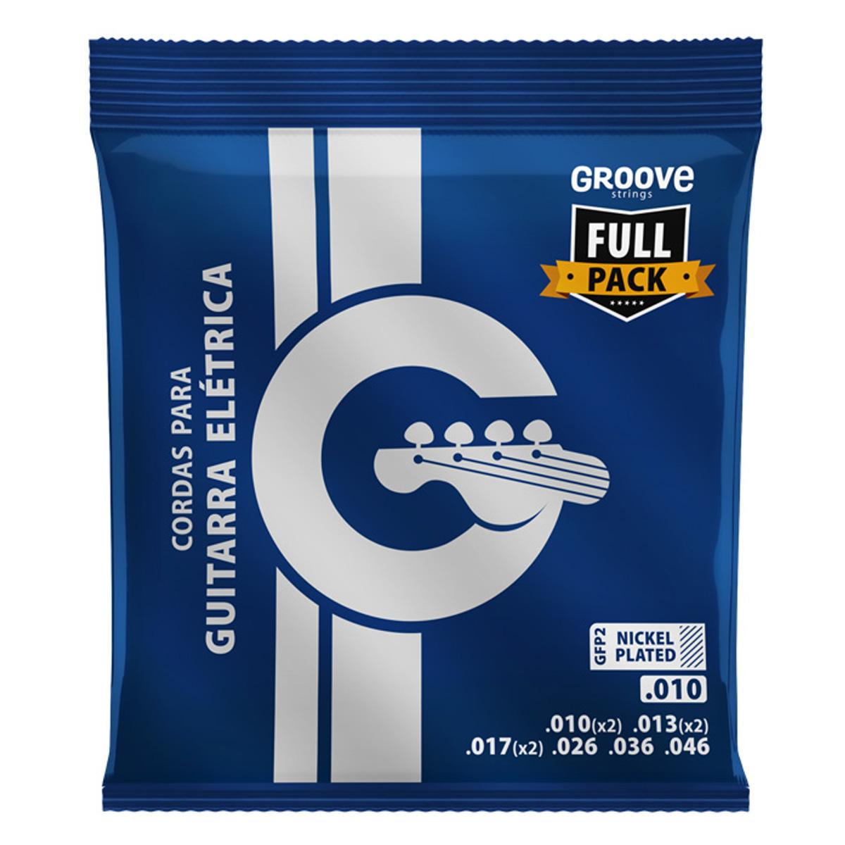 Jogo de Cordas p/ Guitarra 010 Fullpack - Groove  - RS Som e Luz!