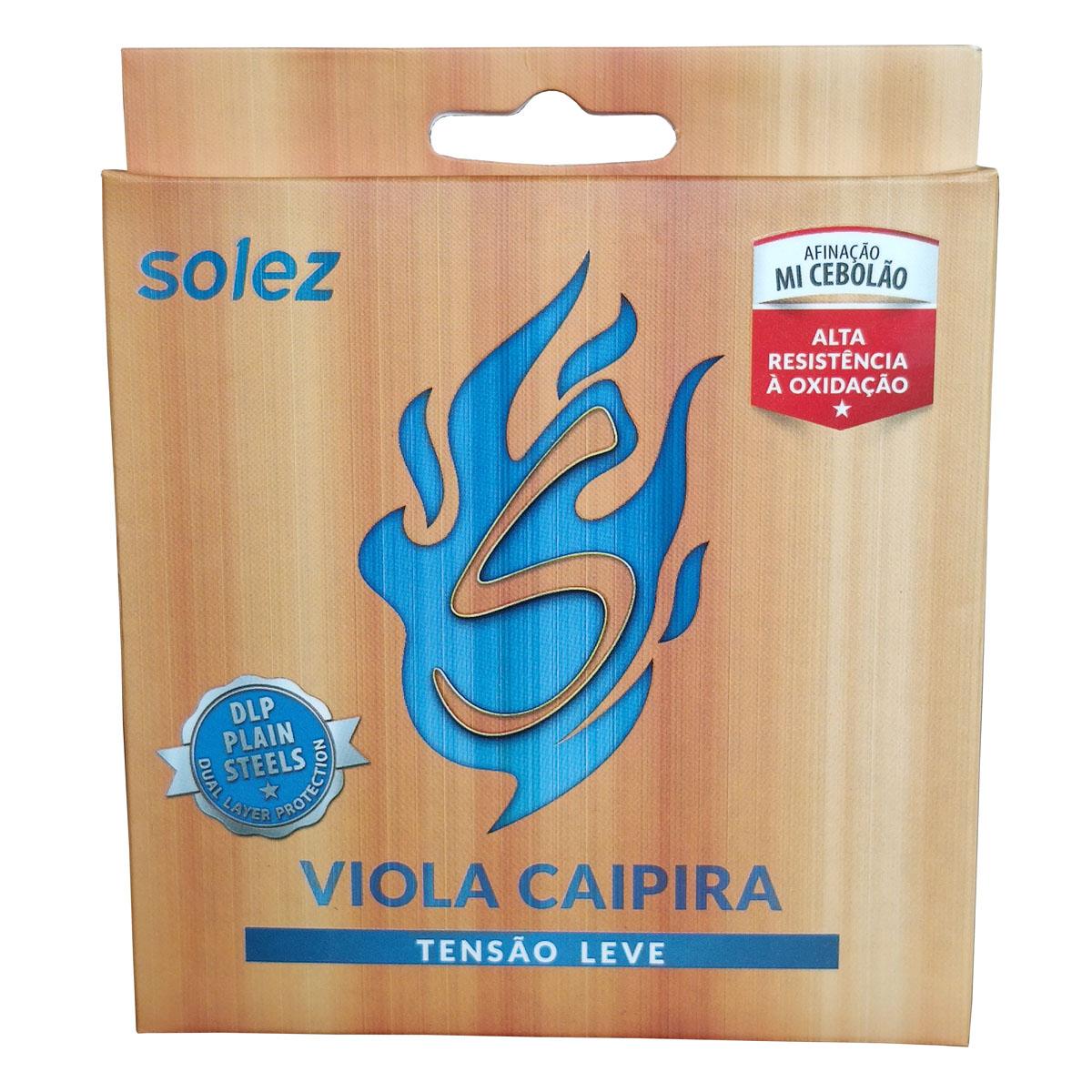 Jogo de Cordas p/ Viola Caipira 10 Cordas Tensão Leve - Solez  - RS Som e Luz!