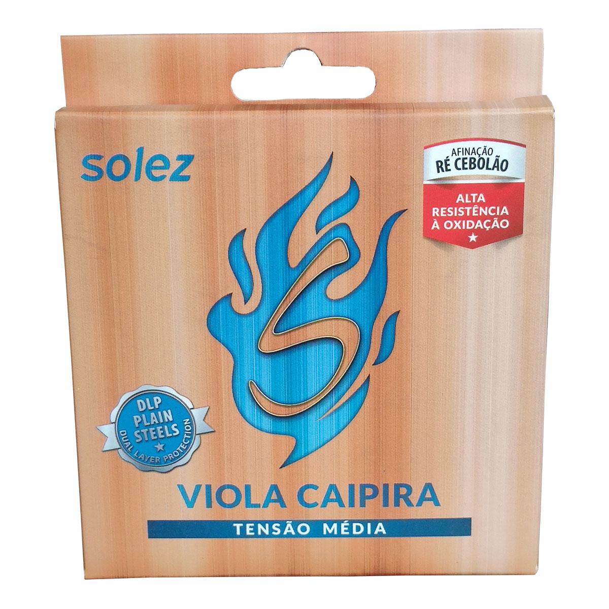 Jogo de Cordas p/ Viola Caipira 10 Cordas Tensão Média - Solez  - RS Som e Luz!