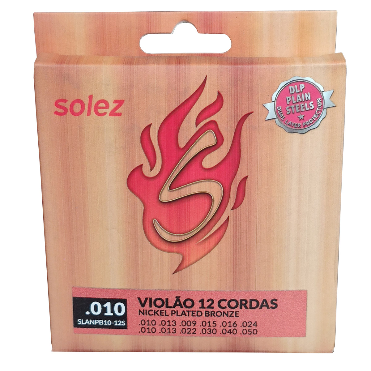 Jogo de Cordas p/ Violão 12 Cordas 010 - Solez  - RS Som e Luz!