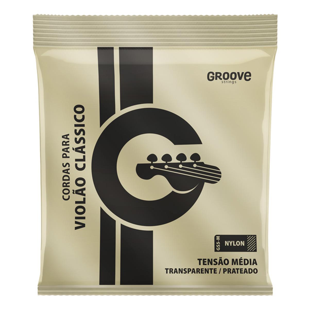 Jogo de Cordas p/ Violão Nylon Tensão Média - Groove  - RS Som e Luz!