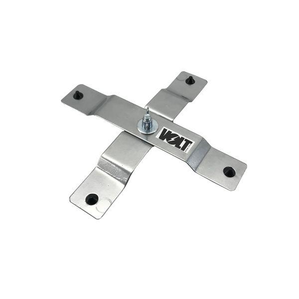 Kit 2 Unidades - Suporte Pé de Galinha Pequeno Prata - Volt  - RS Som e Luz!
