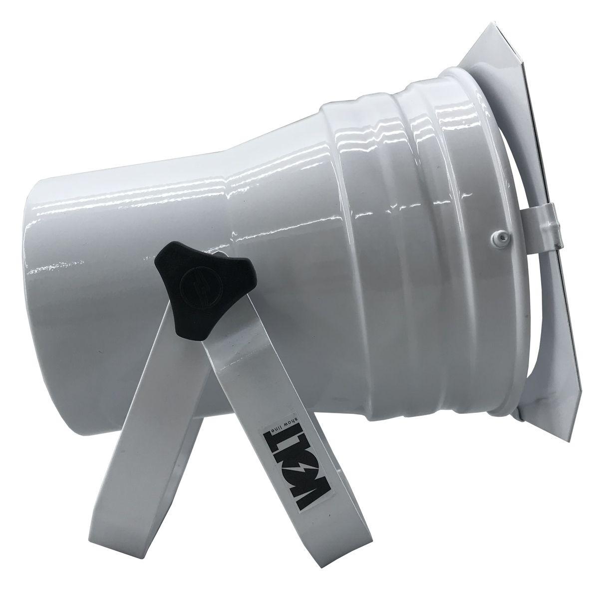 Kit 4 Unidades - Canhão Spot Par 38 Branco Alça Dupla - Volt  - RS Som e Luz!