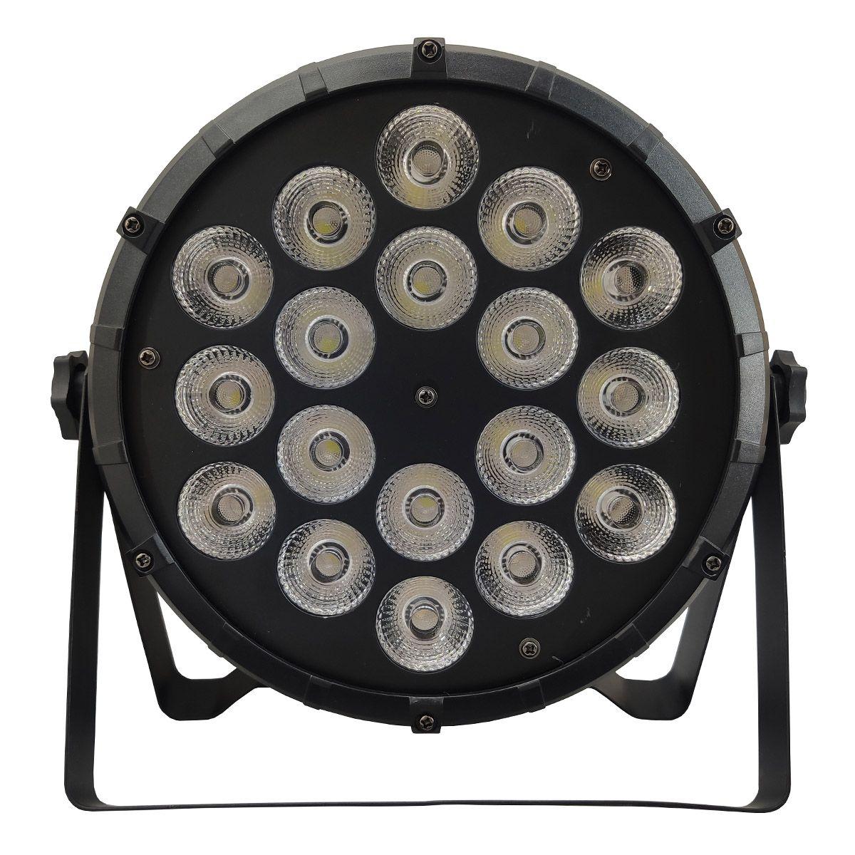 Kit 6 Unidades - Canhão Par Led 18 x 12w RGBW - Briwax  - RS Som e Luz!