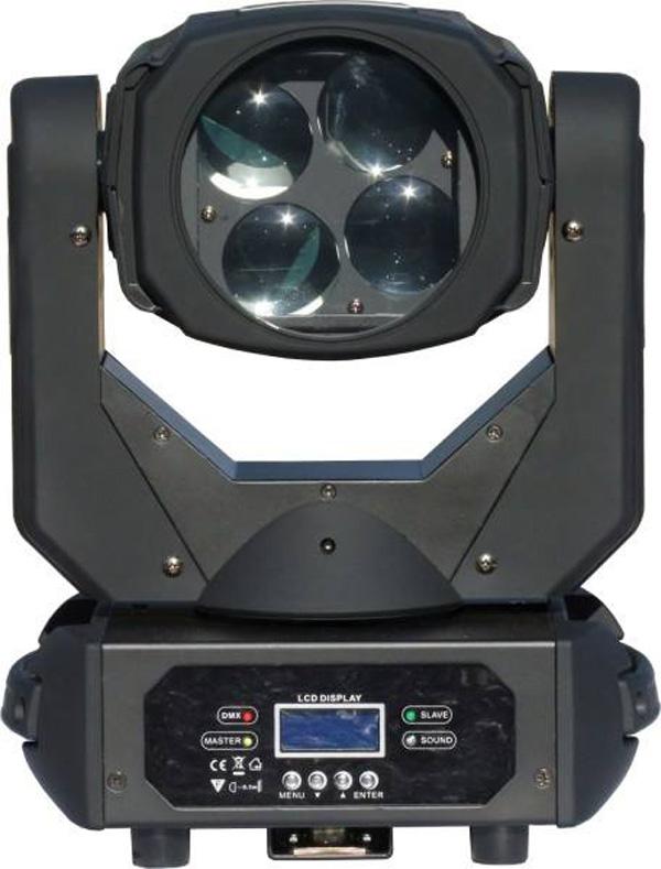 Moving Led Super Beam 100w - 4 x 25w (Caleidoscopio/Disco de Cor)  - RS Som e Luz!