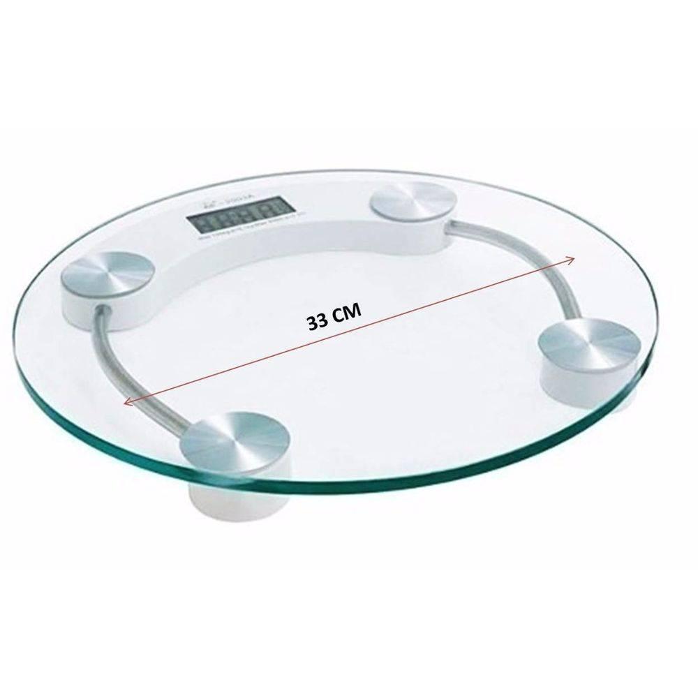 Balança Digital Vidro Temperado 180kg Residencial Academia
