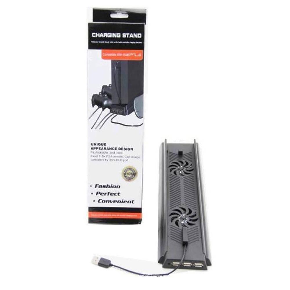 Base Vertical + Cooler Duplo + 3 Usb Ps4 Playstation 4