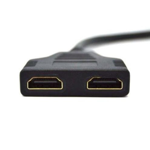Cabo HDMI Divisor Splitter Duplicador Y 1 Macho Para 2 Fêmea