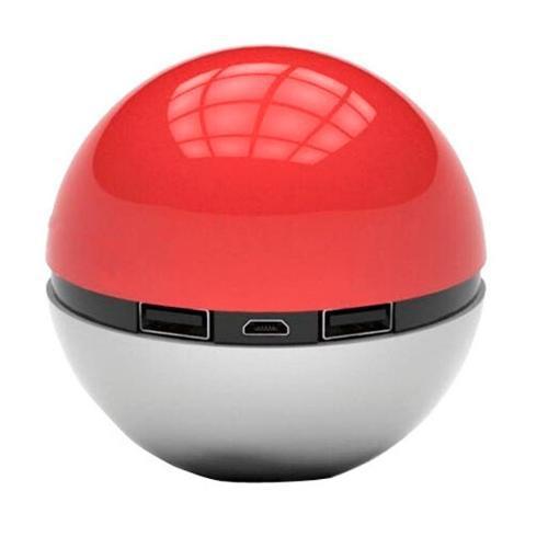 Carregador Portátil Power Bank Pokebola Pokemon Go