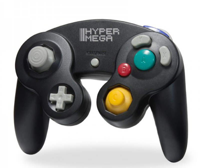 Controle para Gamecube / Wii Preto - Hyper Mega