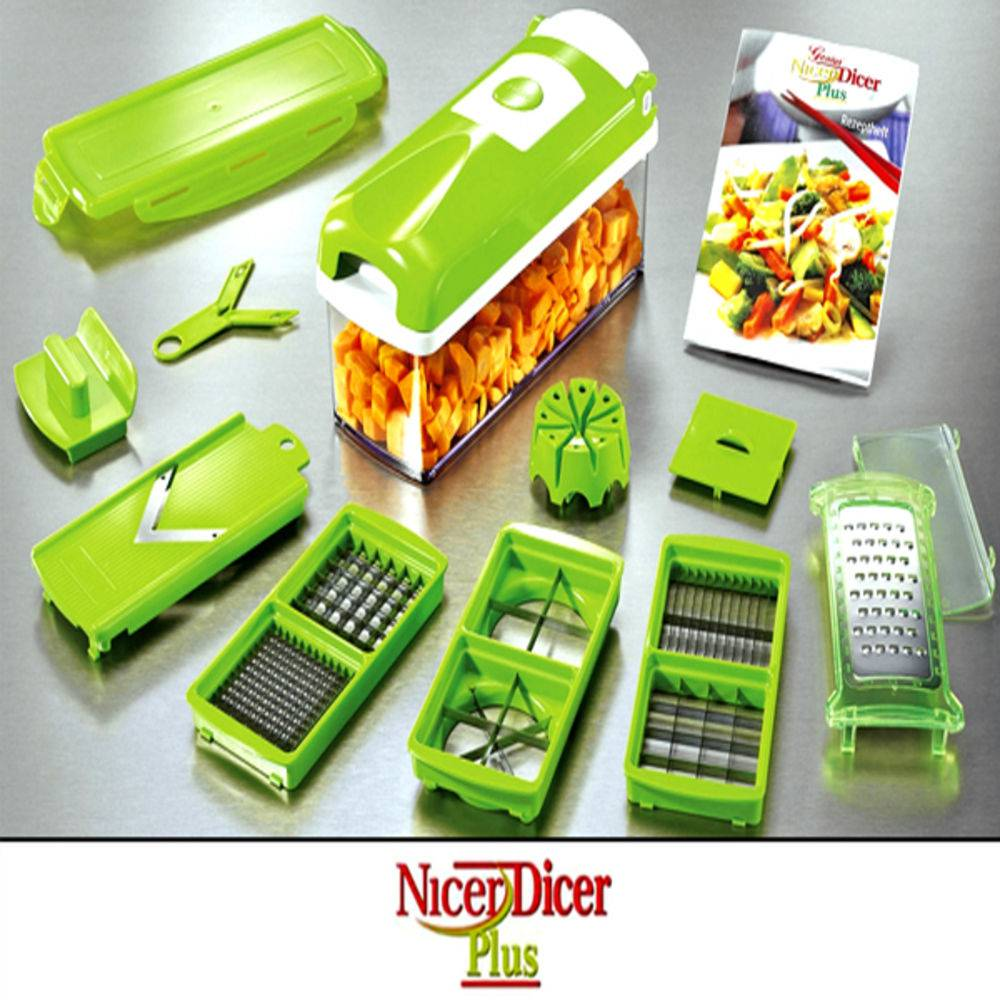 Cortador Fatiador De Legumes Verduras E Frutas Nicer Dicer Plus