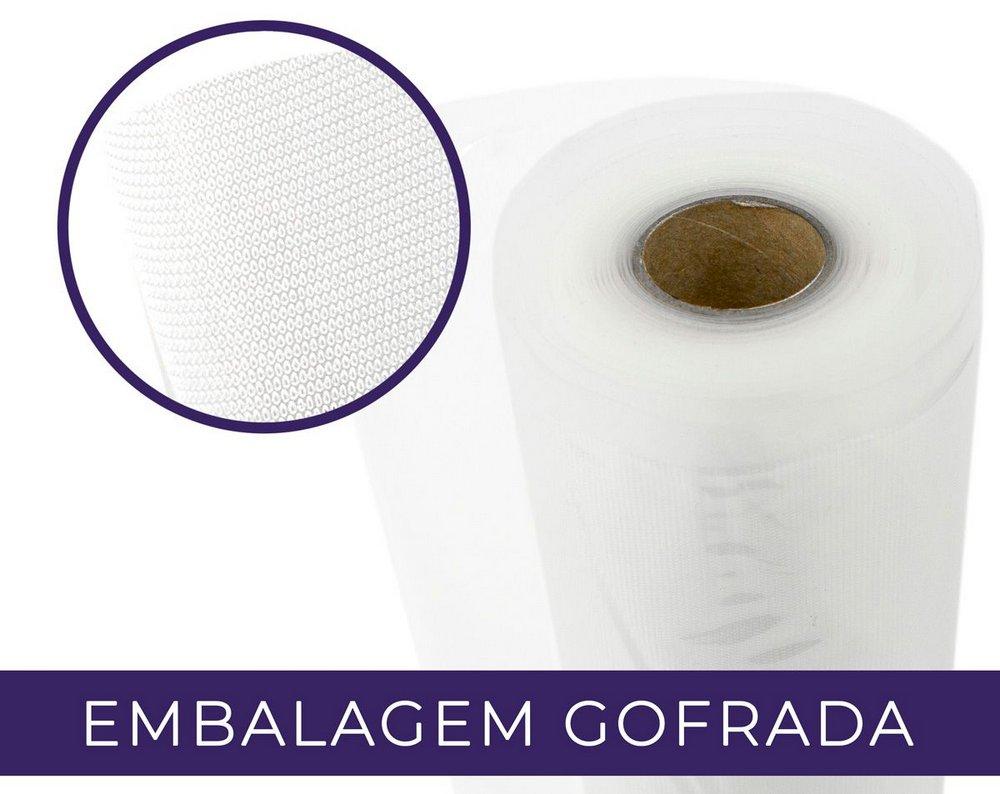Embalagem a Vácuo Gofrada 20cm - Rolo 5m