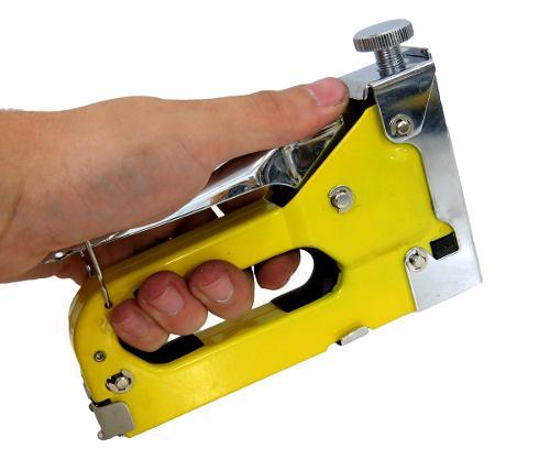 Grampeador de Pressão Metálico para Tapeçaria