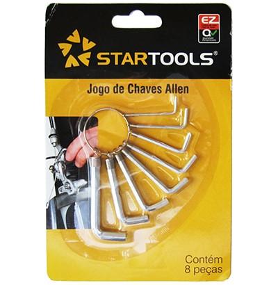 Jogo de Chaves Allen Hexagonal com 8 peças