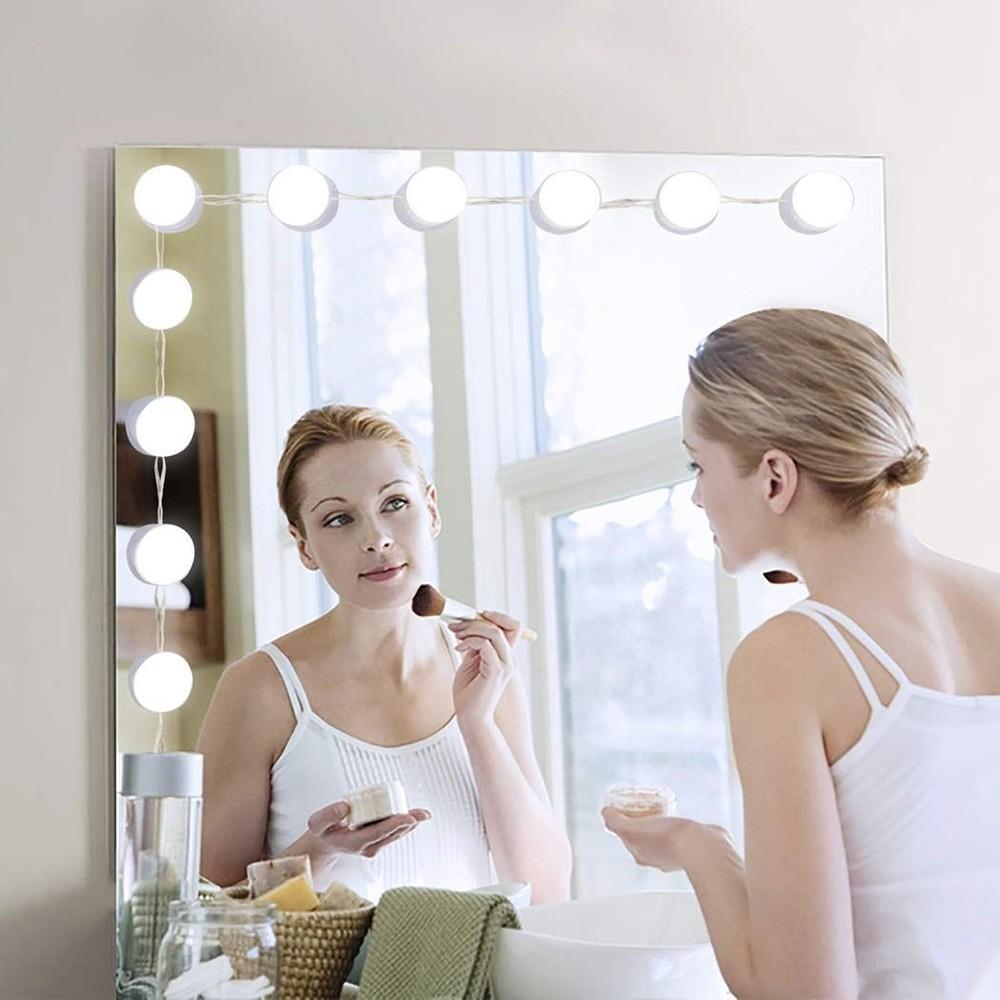 Kit 10 Luzes Lampada Led Camarim Para Espelho