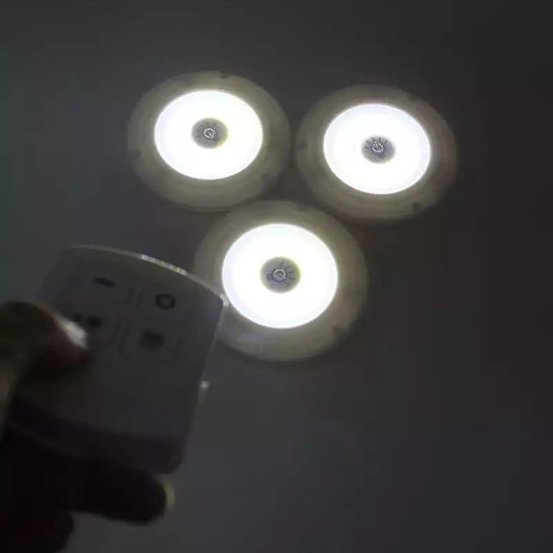 Kit 3 Lampadas Spot Led Luminaria Sem Fio Controle Remoto