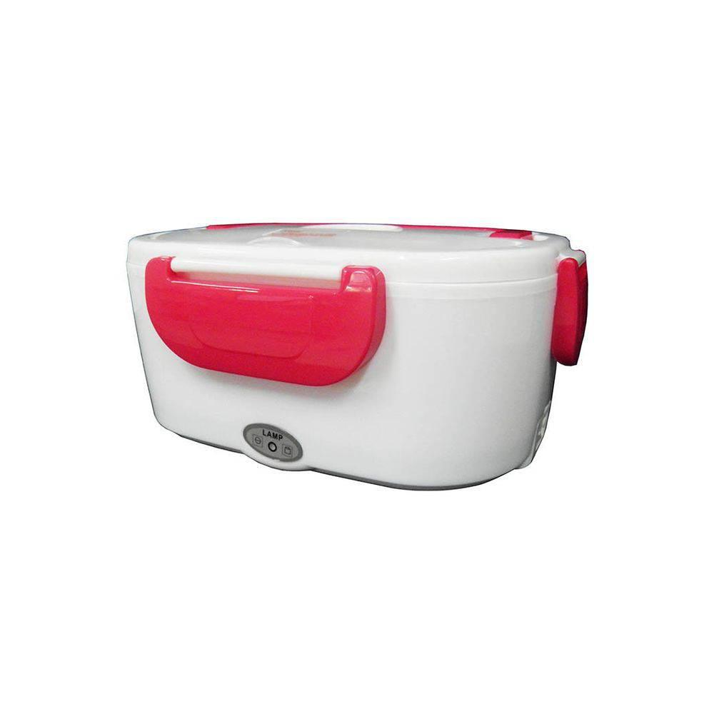Marmita Elétrica Automatica Eletric Lunch Box com Divisórias e Talheres - Vermelha