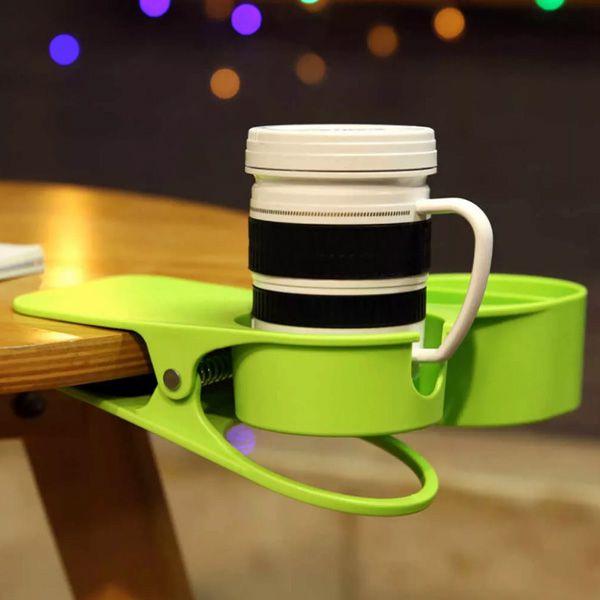 Porta Copos Clip De Mesa Suporte Para Bebida E Acessórios