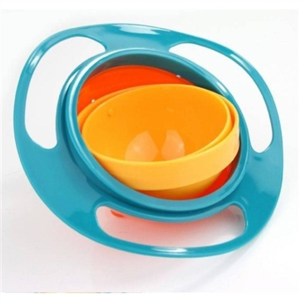 Prato Giratorio Tigela Infantil Pratinho Magico Não Derrama A Comida Gyro Bowl Pratinho Do Bebe