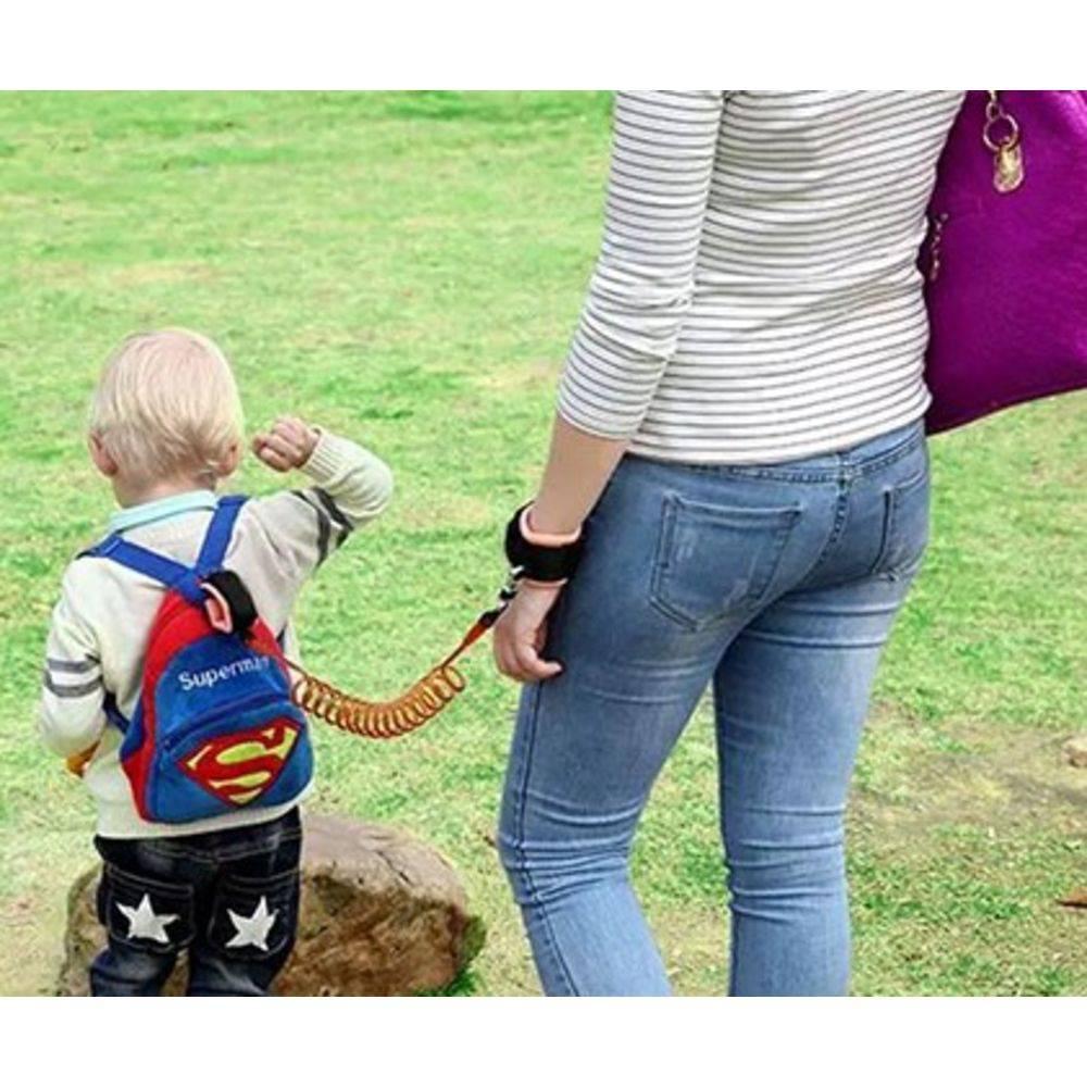 Pulseira Guia Para Criança Infantil Passeio Seguro Segurança Laranja