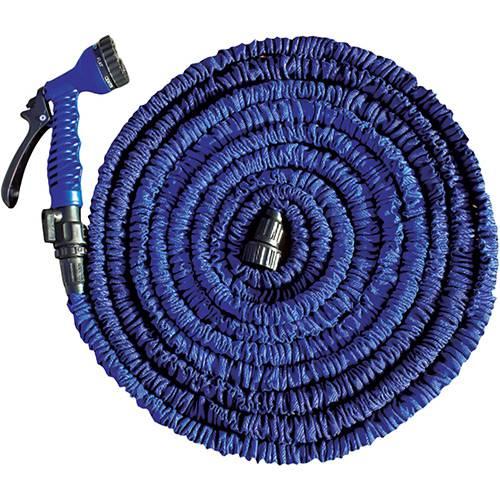 Revolucionária Mangueira Expansível 15 m com Gatilho de 7 Funções - Flex Hose Azul