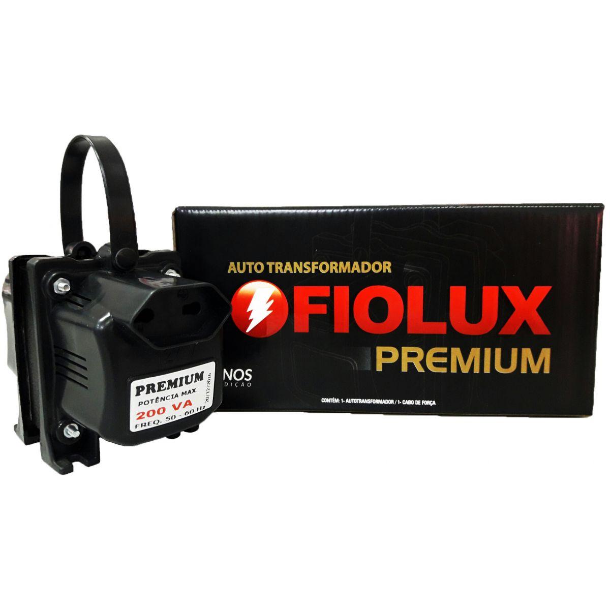 Transformador Fiolux Premium 200VA Bivolt 110/220 e 220/110 Ref: 200 VA