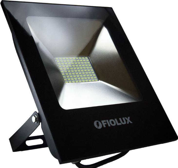 Refletor Led Smd 100 W FIOLUX Holofote Bivolt a Prova d'água IP65