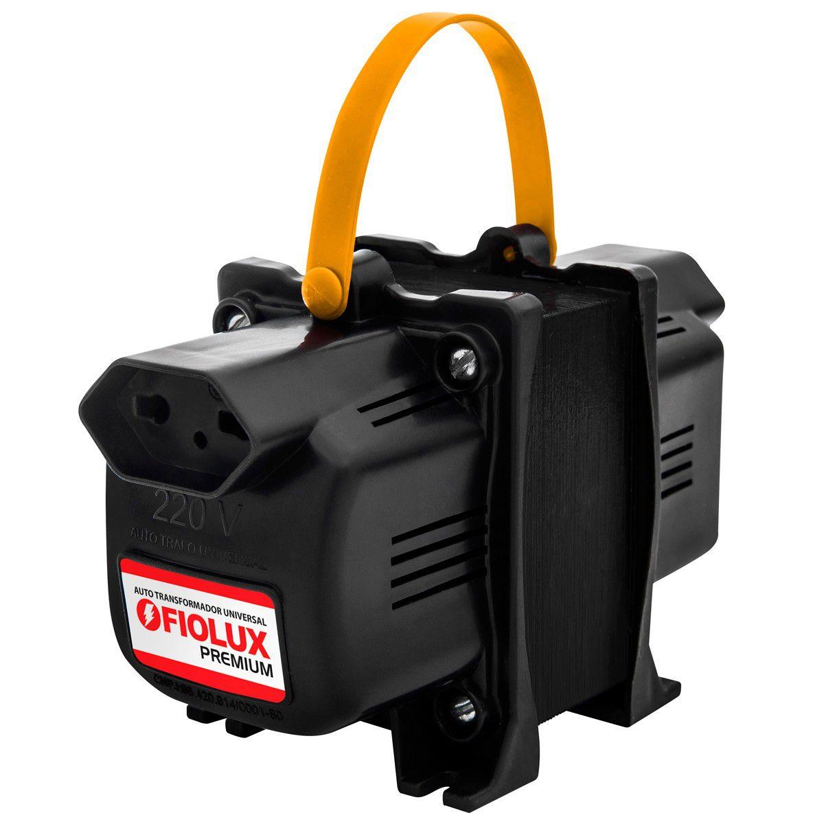 Transformador Fiolux Premium Tripolar 750VA Bivolt 110/220 e 220/110 Ref: 750 VA