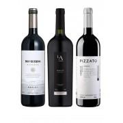 Kit Merlots Brasil: Don Guerino, Luiz Argenta e Pizzato (3 garrafas)