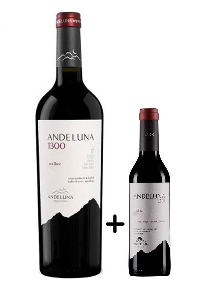 Andeluna 1300 Malbec 750ml + Brinde Meia Garrafa 375ml