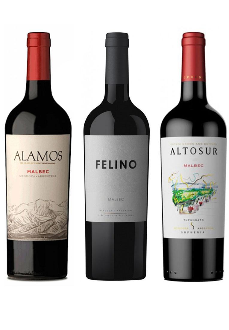 Kit  Clássicos Malbec: Alamos, Felino e Altosur (3 garrafas)