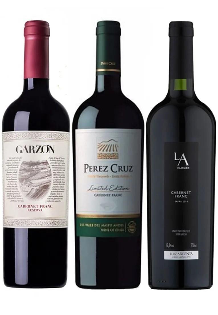Kit Cabernet Franc Terroirs Américas: Garzón Reserva, Perez Cruz, Luiz Argenta (3garrafas)