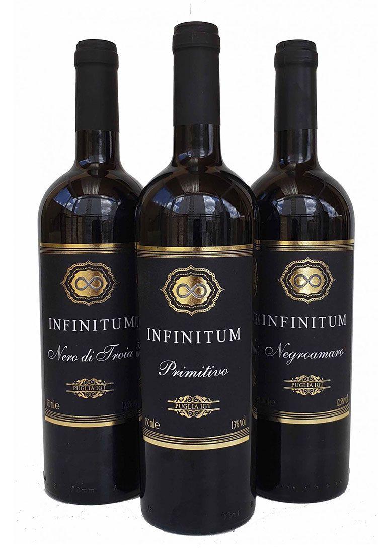 Kit Infinitum Puglia IGT 750ml - 3 garrafas