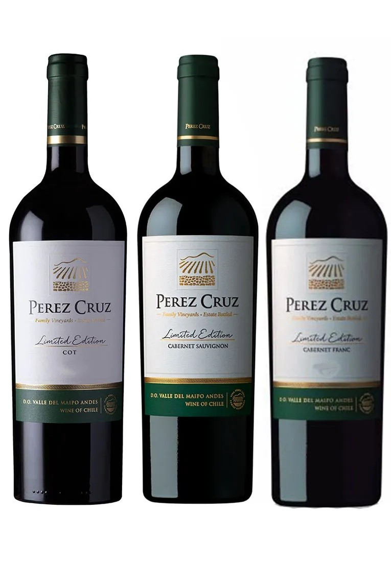 Kit Limited Edition Perez Cruz - COT, Cabernet Sauvignon e Cabernet Franc (3 garrafas)