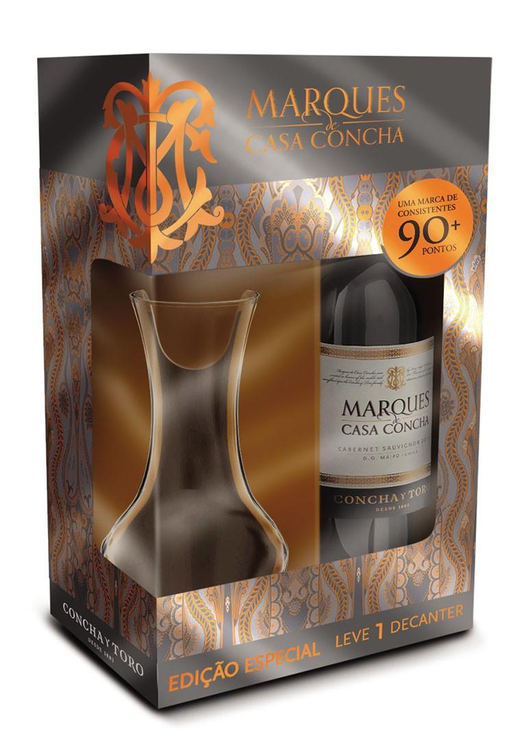 Kit Marquês de Casa Concha Cabernet Sauvignon + Decanter