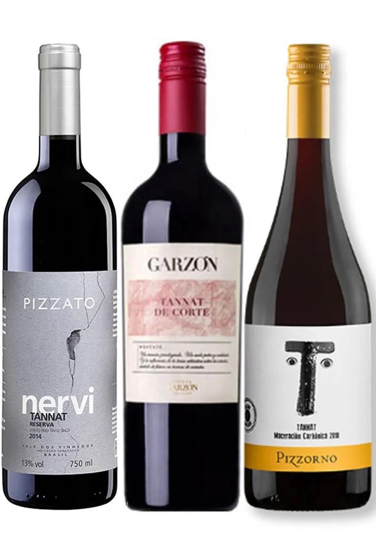 Kit Tannat Vinificações: Garzón Estate De Corte, Pizzato Nervi Reserva, Pizzorno Maceración Carbónica (3garrafas)