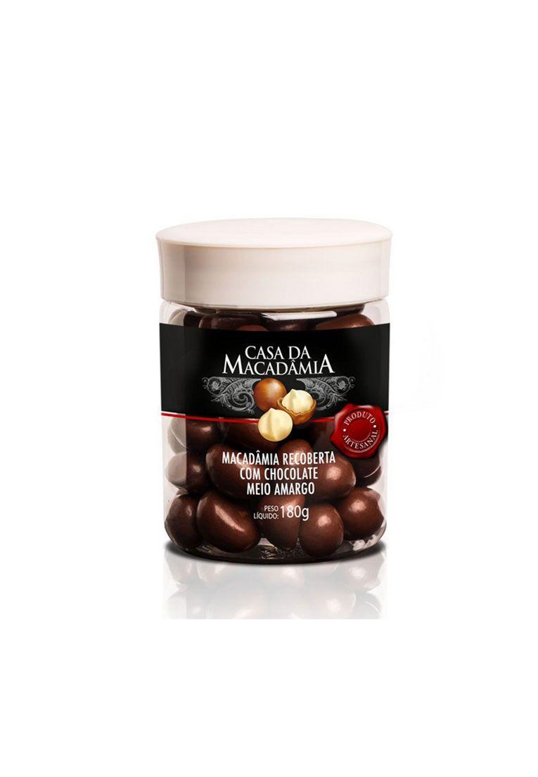 Macadâmia Recoberta com Chocolate Meio Amargo 180g
