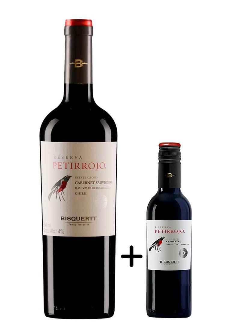 Petirrojo Reserva Cabernet Sauvignon 750ml + Brinde Meia Garrafa Carmenere 375ml