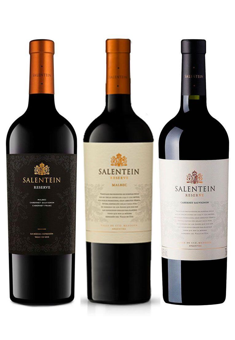 Salentein Reserve 750ml - Kit 3 Garrafas