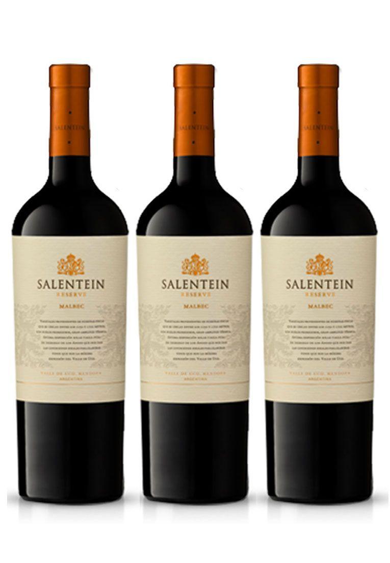 Salentein Reserve Malbec 750ml - Kit 3 Garrafas