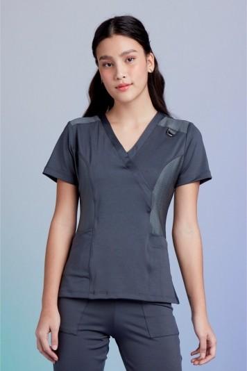 Camisa Feminina Scrub Tech Titanium