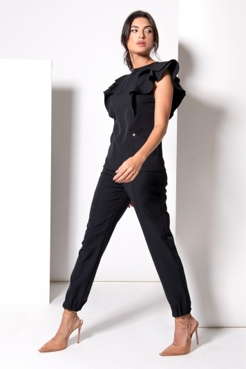 Scrub Feminino Carolina Black