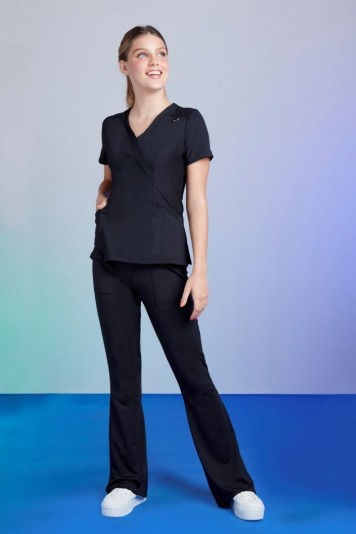 Scrub Feminino Tech Black